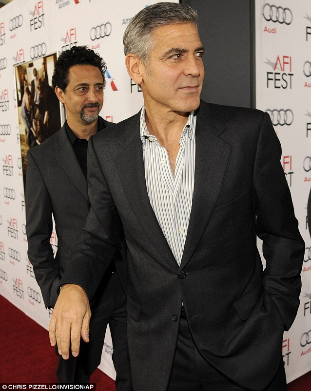 George Clooney at the AFI film fest, 8 Nov 2013, at a screening of August Osage County La310