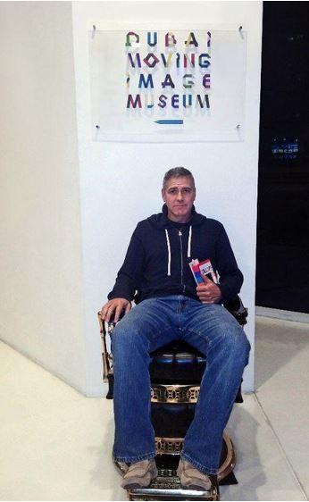 "George Clooney visits ""Moving Image Museum"" in Dubai Museum11"