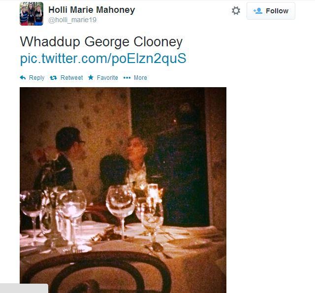 George Clooney dinner in NY Vanc10
