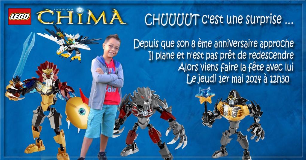 "Invitation Lego ""CHIMA"" Lucas - 8 ans 11"