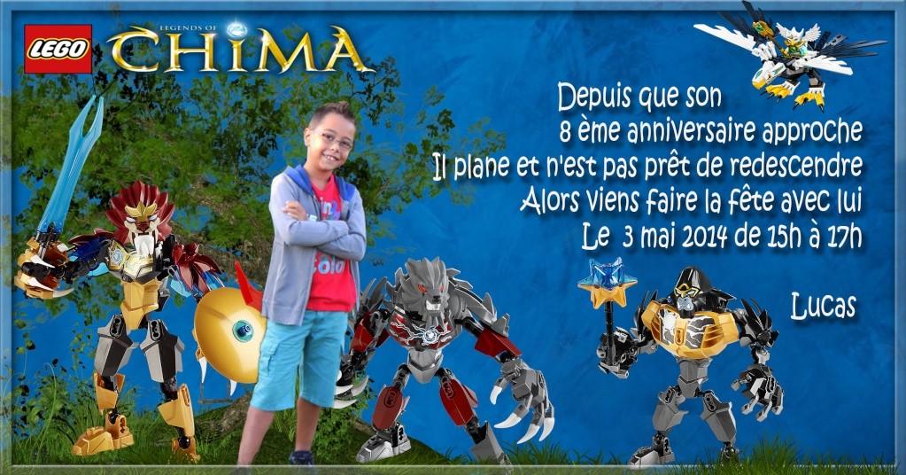 """Invitation Lego """"CHIMA"""" Lucas - 8 ans 3mai12"""