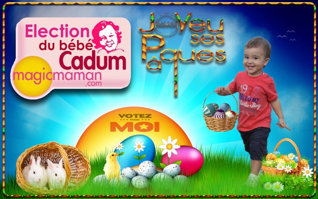 montage Pâques avec le logo bébé cadum Happy_14