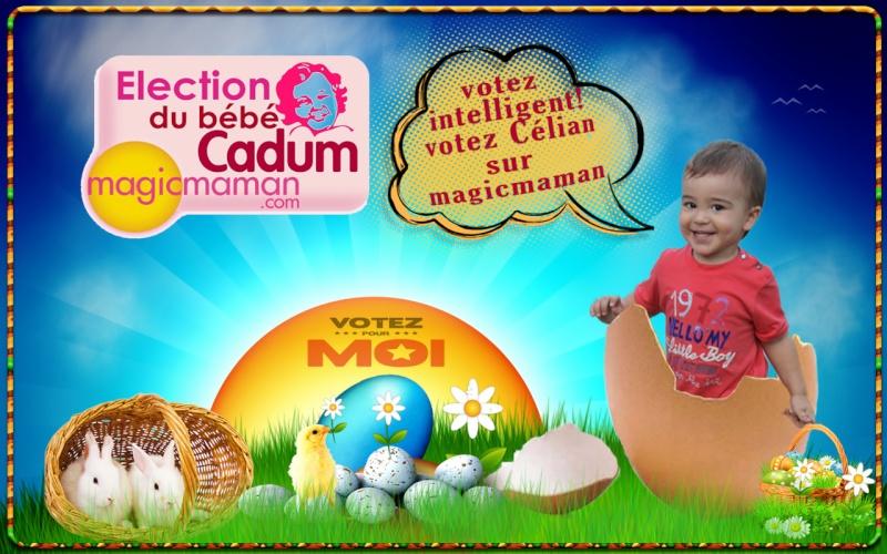 montage Pâques avec le logo bébé cadum Happy_16