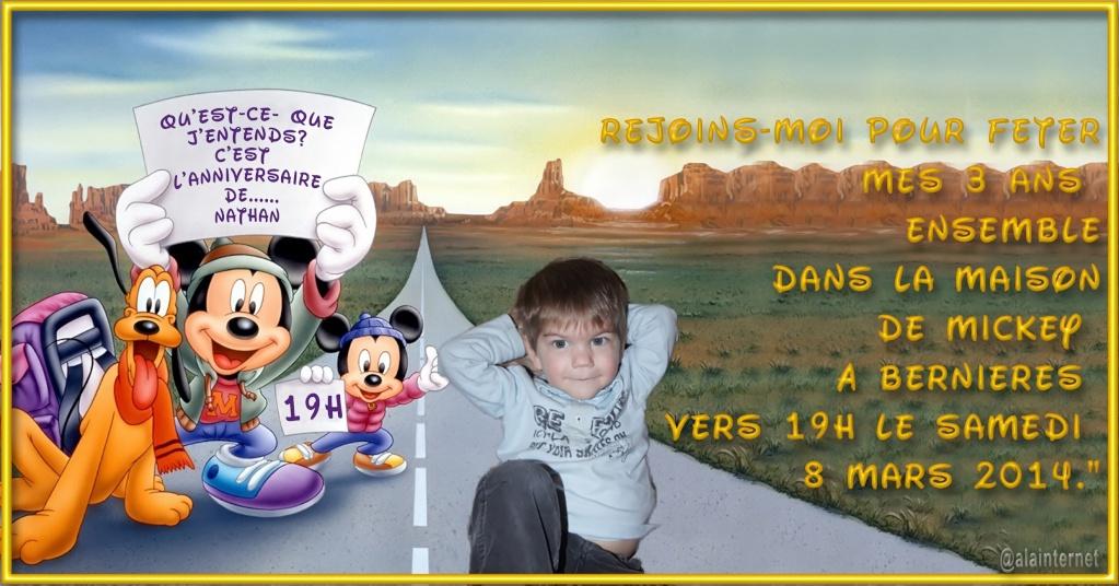 carte anniversaire mickey Mickey11