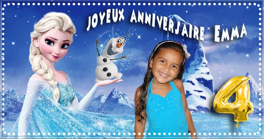 reine des neiges anniversaire 4 ans Emma Reine_10