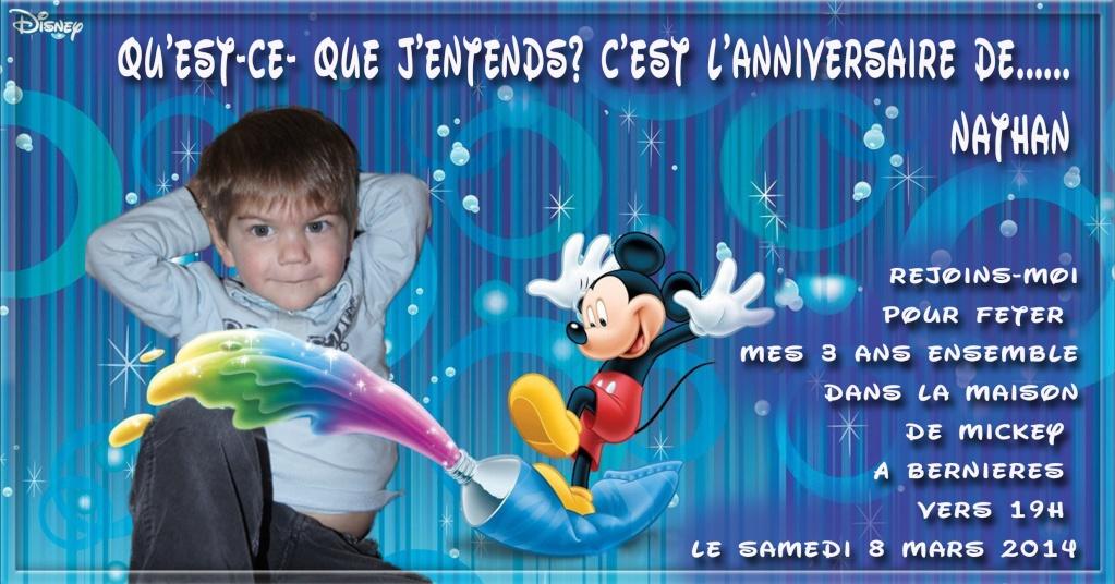 carte anniversaire mickey Sans_339