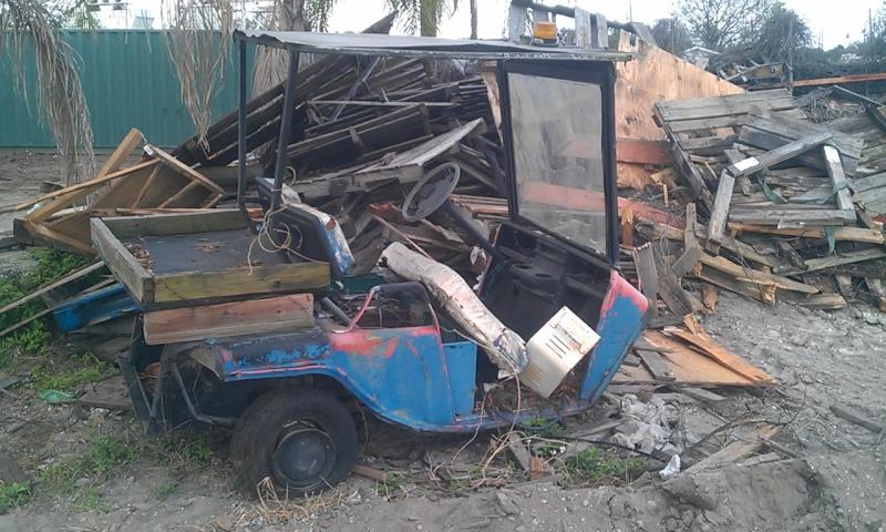 Salvage Electric Golf Cart Imag0310