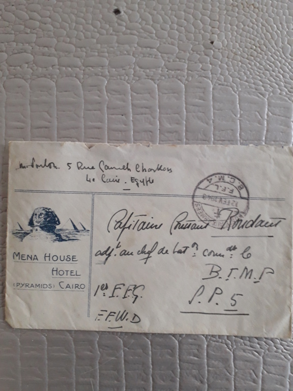 Une enveloppe FFL du Caire 20190326