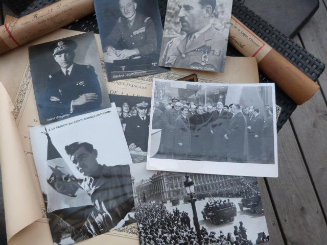 Photos generaux, libé, prefet, bicorne Vatican, officier colo ww1 P1050226