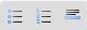 Description des caractères de la barre d'outil. 131