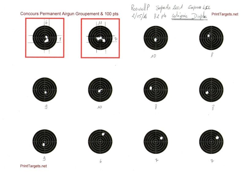 """Concours permanent bimestriel """"groupement & 100pts"""" sur cible CC A4 : Mai Juin 2014 20_m_b10"""