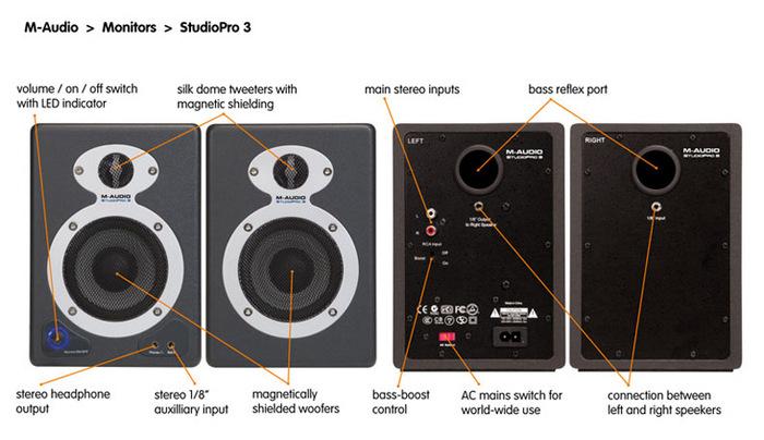 (VE) diffusori amplificati da tavolo M-audi11
