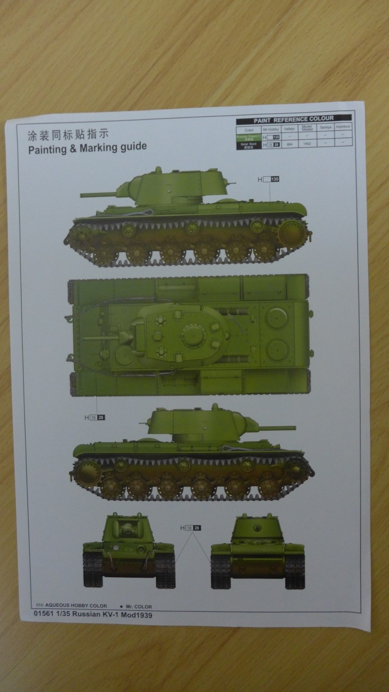Russian KV-1 Mod1939 von Trumpeter P1010321