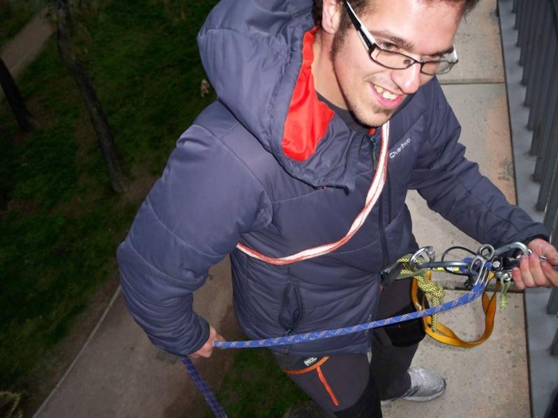Escalada: viernes 4 de abril 2014 - Rapelando en el puente de la Gran Vía de Villaverde 002_ca11