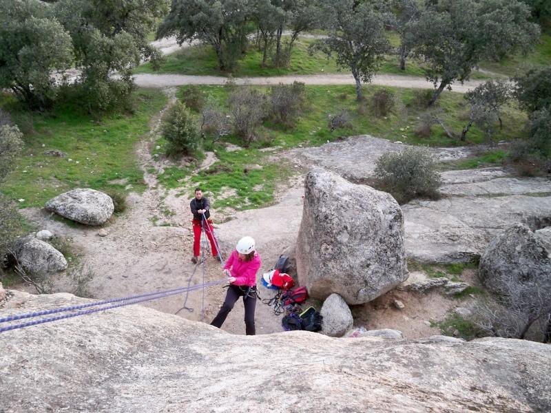 Escalada: domingo 26 de enero 2014 - Rapelando en Torrelodones 006_ra11