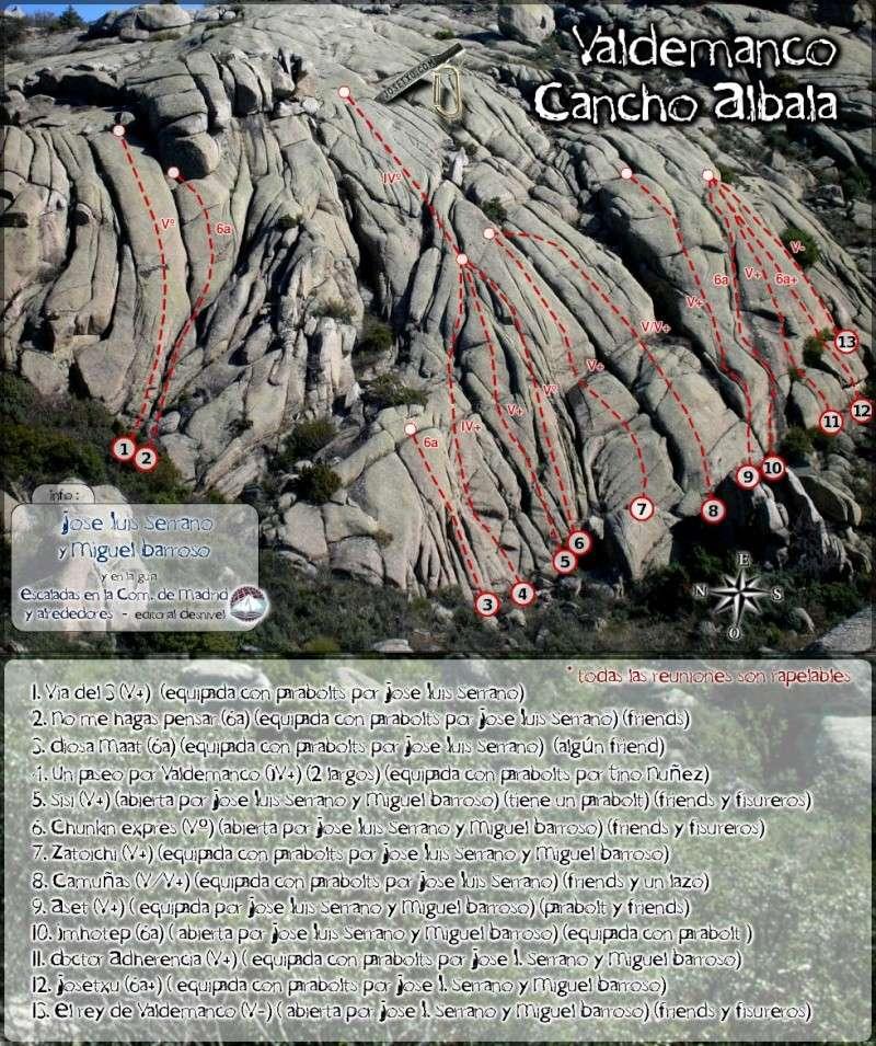 Valdemanco: Sectores Cancho Albalá, Placa de los Cursillos y Placa PR Cancho10