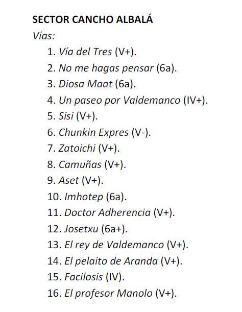Valdemanco: Sectores Cancho Albalá, Placa de los Cursillos y Placa PR Cancho12
