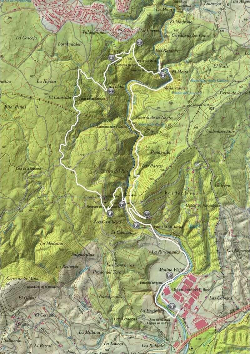 Senderismo: sábado 22 de marzo 2014 - Cañón del Guadalix Mapa10