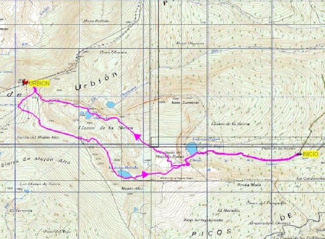Senderismo: domingo 8 de junio 2014 - Ascensión al pico Urbión Mapa11