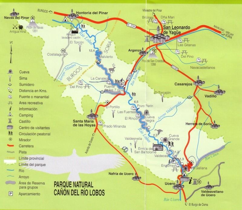 Senderismo y espeleología: 8 y 9 de febrero 2014 - Cañón del Río Lobos y Cueva de la Galiana - Página 3 Mapa_210