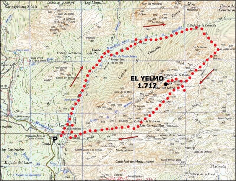 Senderismo: domingo 5 de enero 2014 - Ascensión al Yelmo (por la chimenea) - Página 3 Mapa_e10