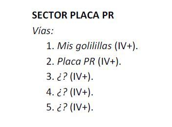 Valdemanco: Sectores Cancho Albalá, Placa de los Cursillos y Placa PR Pr10