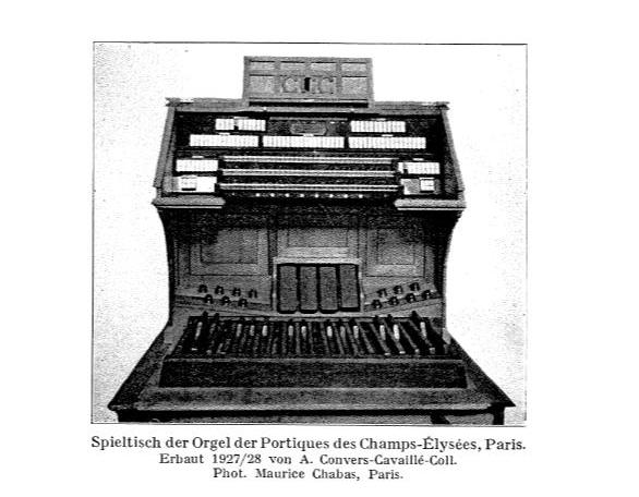 Orgue Convers (1927-1928) du temple d'Amiens Consol10