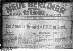 Hiperinflación Alemana de 1923 Diario10
