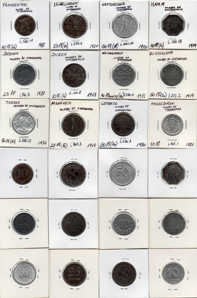 La moneda de emergencia en Alemania Moneda13