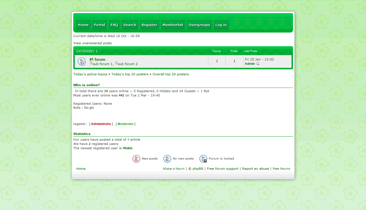 Flowery Green - phpbb3 Flower10