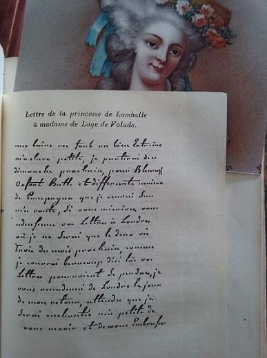 La maladie de la princesse de Lamballe Lettre12