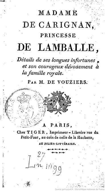 Les biographes de la princesse de Lamballe - Page 3 Madame11