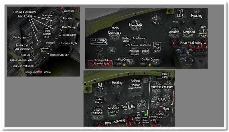 Tableau de commandes B-17 Pilota12