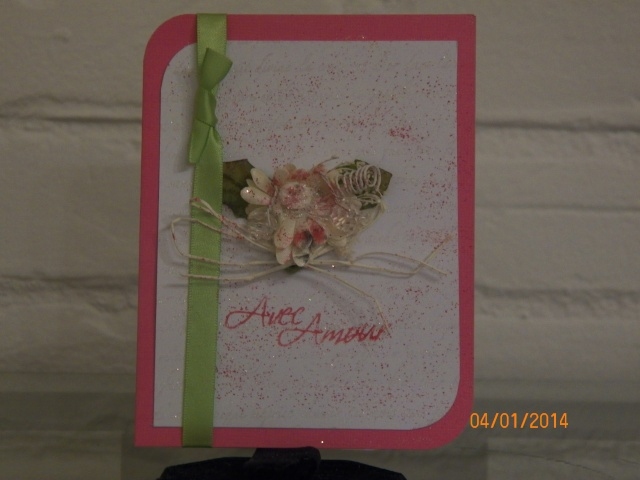 Voici le début de mes cartes pour la Saint-Valentin ... Faut suivre le courant :0) 6510