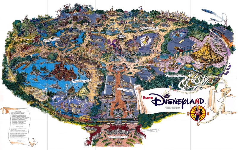 Plan souvenir de Disneyland Paris en 1992 Plan_c10