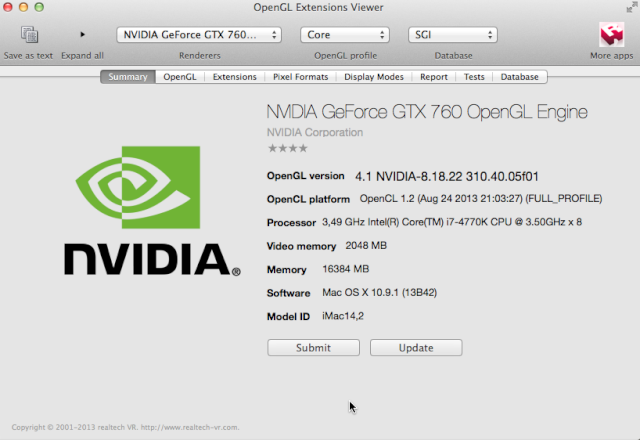NVIDIA OPEN GL ENGINE  324
