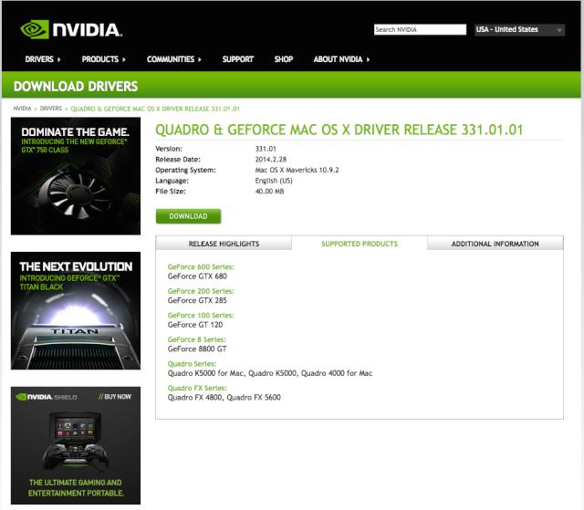 Nouveaus Driver NViDia  10.9.2  Nv10