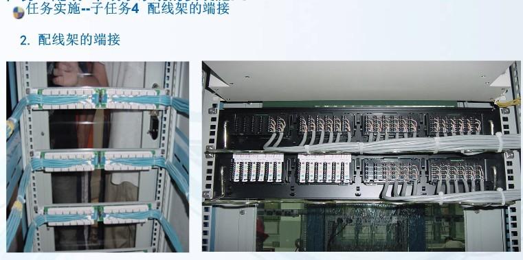 项目3 配线/干线子系统的安装与施工 任务4 配线架的端接 Rw4-210