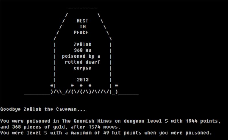 Challenge Francophone de Roguelike - NetHack - Novembre 2013 - CFRL1311NH343-CavemanGnome-3 Last_s11
