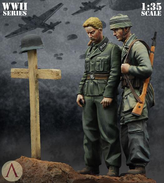 """AUTOBLINDA AB43 [ITALERI] 1/35 - """"Adieu Camarade !"""" Fallschirmjäger, Italie, 1943 Scale_10"""