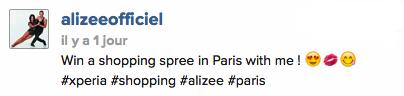 [CONCOURS] Gagnez une virée shopping à Paris avec Alizée !  Captur13