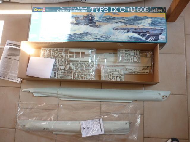 U-boote type IX-C au 1/72 de chez revell P1050920