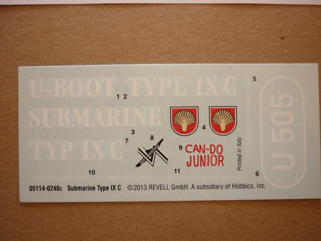 U-boote type IX-C au 1/72 de chez revell P1050921