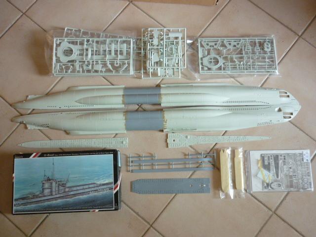 U-boote type VIID au 1/72 (U218) P1060410