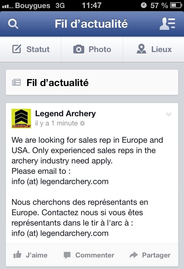 Représentant Legend Archery Photo11