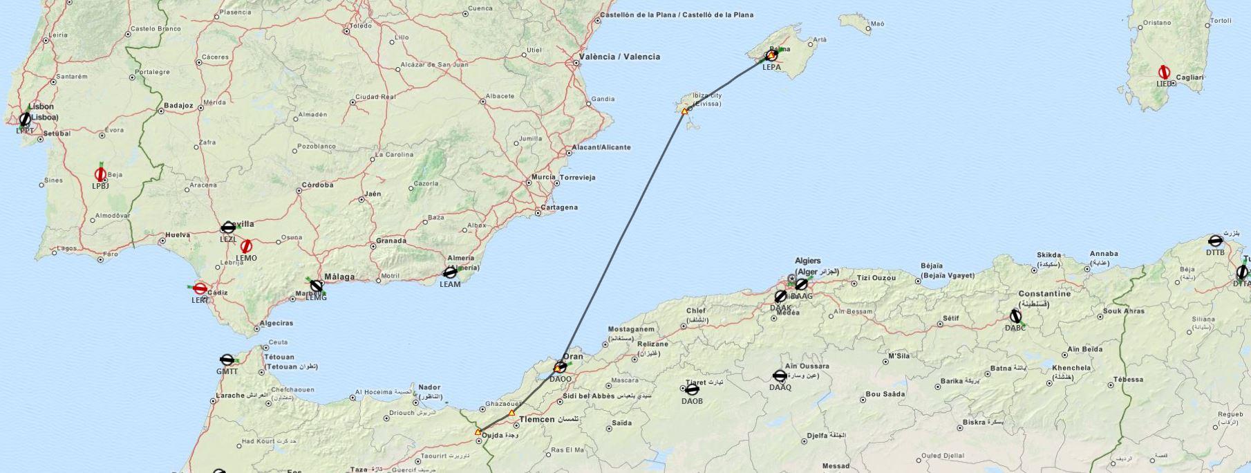 The First Flight Plan, Premier Plan de vol pour Shag Captur20