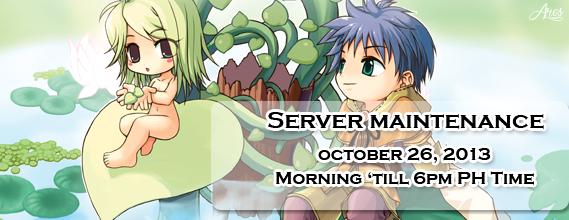Server Maintenance (October 26, 2013) Mainte10