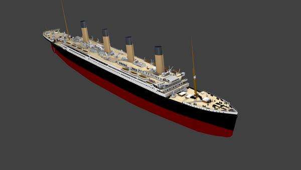 Titanic sous Blender - 21PhilC1 10210