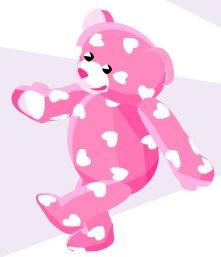 Pink Hearts Teddy PSI Bear10