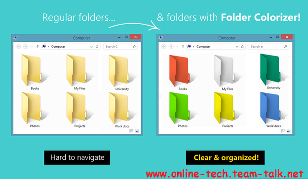 Customize folders with different colors in Windows OS Custom10